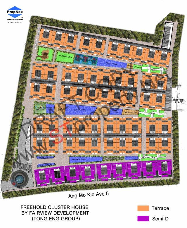Fairview Mall Floor Plan: Belgravia Villas, Cluster House (FREEHOLD) @ Ang Mo Kio